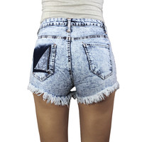 Distress Pocket Shorts (runs small)