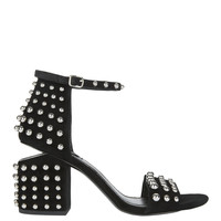 Abby Studded Black Leather Sandals