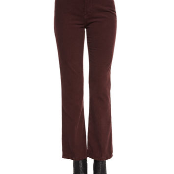 Revolution Boot-Cut Velvet Pants, Sulfur Fig, Size: