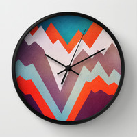 The Valley Wall Clock by Elisabeth Fredriksson | Society6