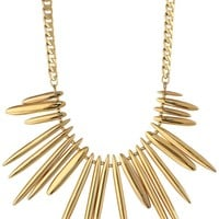"Trina Turk ""Sculpture Garden"" Gold Drama Bar Necklace"