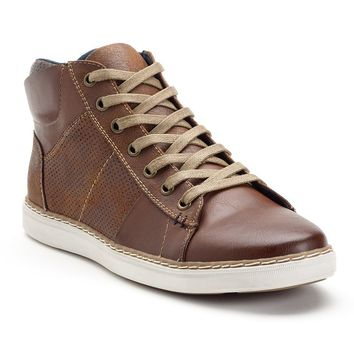 SONOMA life + style Men's Perforated High-Top Sneakers