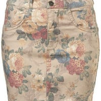 Cream Floral Pelmet Skirt