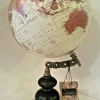 Globe Marble Base New by The Great Explorer Decorative Brass Wood