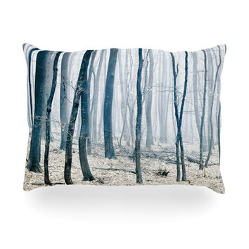 "Iris Lehnhardt ""Blues"" Gray Oblong Pillow"