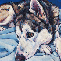 """8"""" x 10"""" Custom Pet Portrait Painting in Acrylic on Ready to Hang Canvas of One Dog, Cat, or Other Animal, Pet Memorial or Pet Lover Gift"""