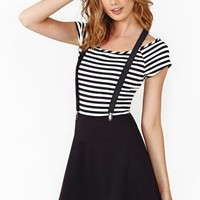 Nasty Gal Roll Call Suspender Skirt