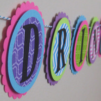 Bachelorette  Party Banner  Neon Colors Hot Pink Turquoise Lime Green and Purple Drink Up Bitches