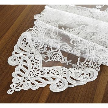 Embroidered Lace Fashionable Table Runner