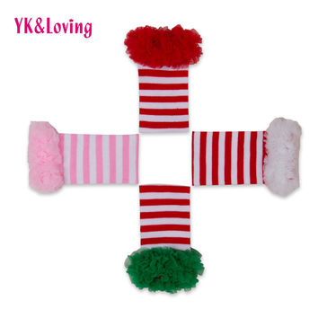 2016 Winter Christmas Baby Leg Warmers With Ruffles Lace Infant Baby Toddler Knee-High Cotton Stripe Dot Tights For Girls 5Clrs