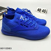 Reebok popcorn comfort, fashion, shock absorption, sports shoes L-CSXY Blue