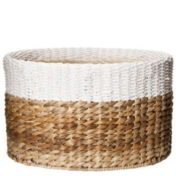 Threshold™ Color Block Round Woven Basket - 15x9""