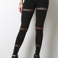 Mesh Band Panel Leggings