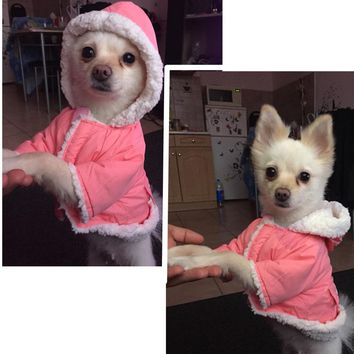 Winter Dog Clothes for Small Dogs Warm Pet Coats Jacket Dog Clothing French Bulldog Chihuahua Pet Clothes 10dy30