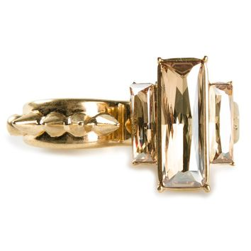 Alexander McQueen spiked double finger cocktail ring