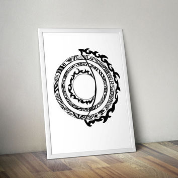 Loft Abstract Sun Painting  Modern Print Home Decor Geometric print Download Minimalist wall decor Circle Print  Black & White Sun poster