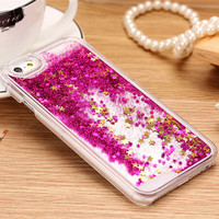 Big Promotions! Fun Glitter Star Liquid Back Case cover for iphone 6 Luxury Fashional Phone Cases for iphone6 4.7 inch Housing