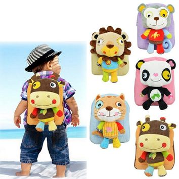 Infant Cute Baby Kids Snack Backpack Preschool Children Plush Nursery School Bags Girls Boys Animal Figure Bag Stuffed Toy Doll