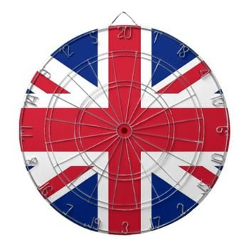 Dartboard with Flag of United Kingdom
