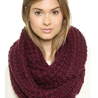 Solid Color Chunky Hand Knitted Snood