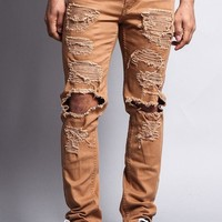 Distressed Knee Hole Skinny Jeans DL119 - T12A