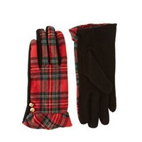 Pieces | Pieces Hamilton Tartan Gloves at ASOS
