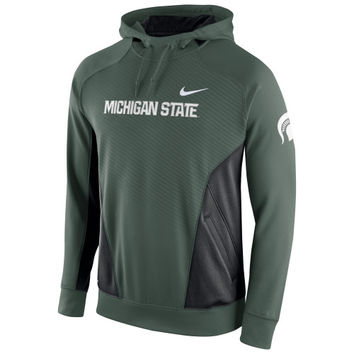 Michigan State Spartans Nike Basketball Performance Pullover Hoodie – Green