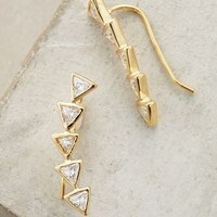 Shashi Arched Arrow Climbers in Gold Size: One Size Accessories