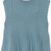3.1 Phillip Lim Stretch cotton and cashmere-blend sweater – 60% at THE OUTNET.COM