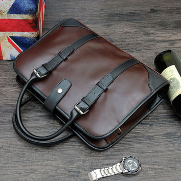 mens business leather bag