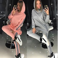 Fendi Women Hoodie Top Pants Two-Piece