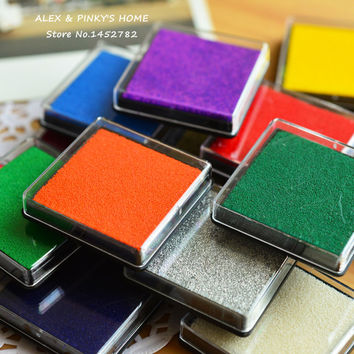 15 Colors Cute Inkpad Craft Oil Based DIY Ink Pads for Rubber Stamps Fabric Scrapbook Wedding Decor Fingerprint Stamp Pad