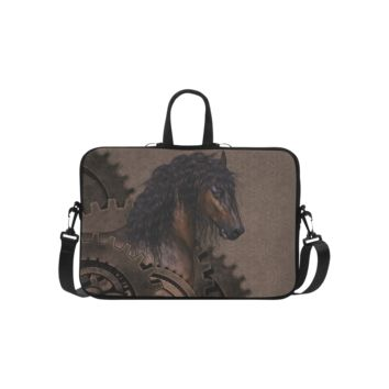 Personalized Laptop Handbag Steampunk Horse Macbook Air Shoulder Bag 15.6 Inch