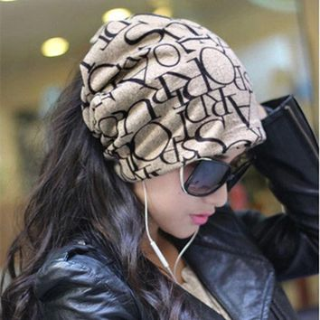 MDIG9GW Unisex Women Men Winter Ski Hat Slouch Baggy Hip Hop Hairband Cap Beanie New