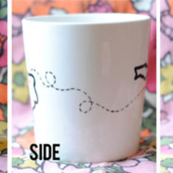 State or Country Heart Mug - Going Away Present, Going Away Gift, Moving Away, Long Distance Relationship, Adoption- Customize