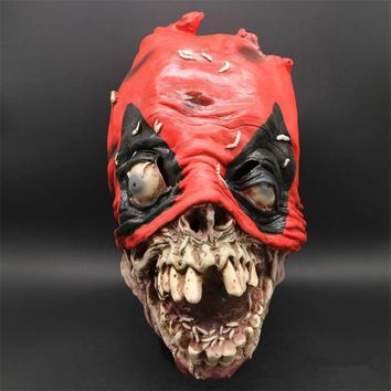 Deadpool Dead pool Taco Halloween Super Hero  Sick Grim Mask Dancing Party Funny Mask Terror Fancy Game Latex Scary Prank Blood Hoods AT_70_6