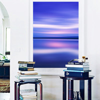 Beach Photography Large Wall Art Blue Purple Pink Navy Coastal Decor Oversized Print Ocean Sea Photo Living Room Bedroom Abstract Art