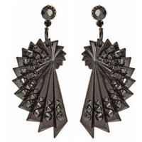 BLACK DAHLIA EMELINE DROP EARRINGS - TARINA TARANTINO