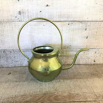 Watering Can Water Can Mid Century Watering Can Vintage Green Watering Can Vintage Water Pitcher Flower Pot Garden Decor Indoor Planter