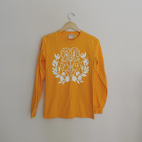 Vintage Chi Omega Crest Long Sleeve Shirt Size SMALL