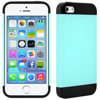 iPhone 5 Cases (Vivid Hybrid - Teal & Black)