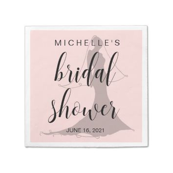 Chic Blush Pink Bridal Shower Disposable Napkin