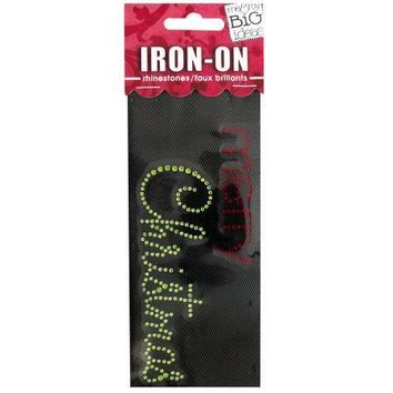 'Merry Christmas' Rhinestone Iron-On Transfer (Available in a pack of 24)