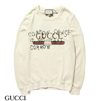 DCCK G008 Gucci Round neck Logo fur collar sweater Apricot