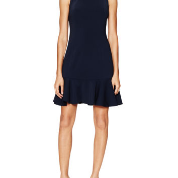 Jay Godfrey Women's San Marino Flounce Hem Dress - Dark Blue/Navy -