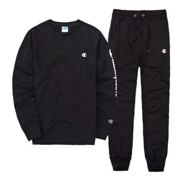 DCCKN6V Champion Casual Pullover Sweater Pants Trousers Set Two-Piece