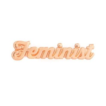 Feminist Lapel Pin - Rose Gold