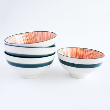 Urchin Orange/Navy Bowls