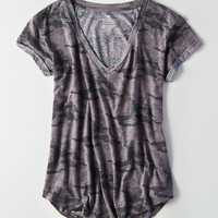 AEO Soft & Sexy V-Neck Favorite T-Shirt, Medium Heather