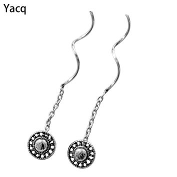 YACQ 925 Sterling Silver Sunflower Dangle Earrings Birthday Party Hiphop Jewelry Gifts Women Girlfriend Her ping CE64
